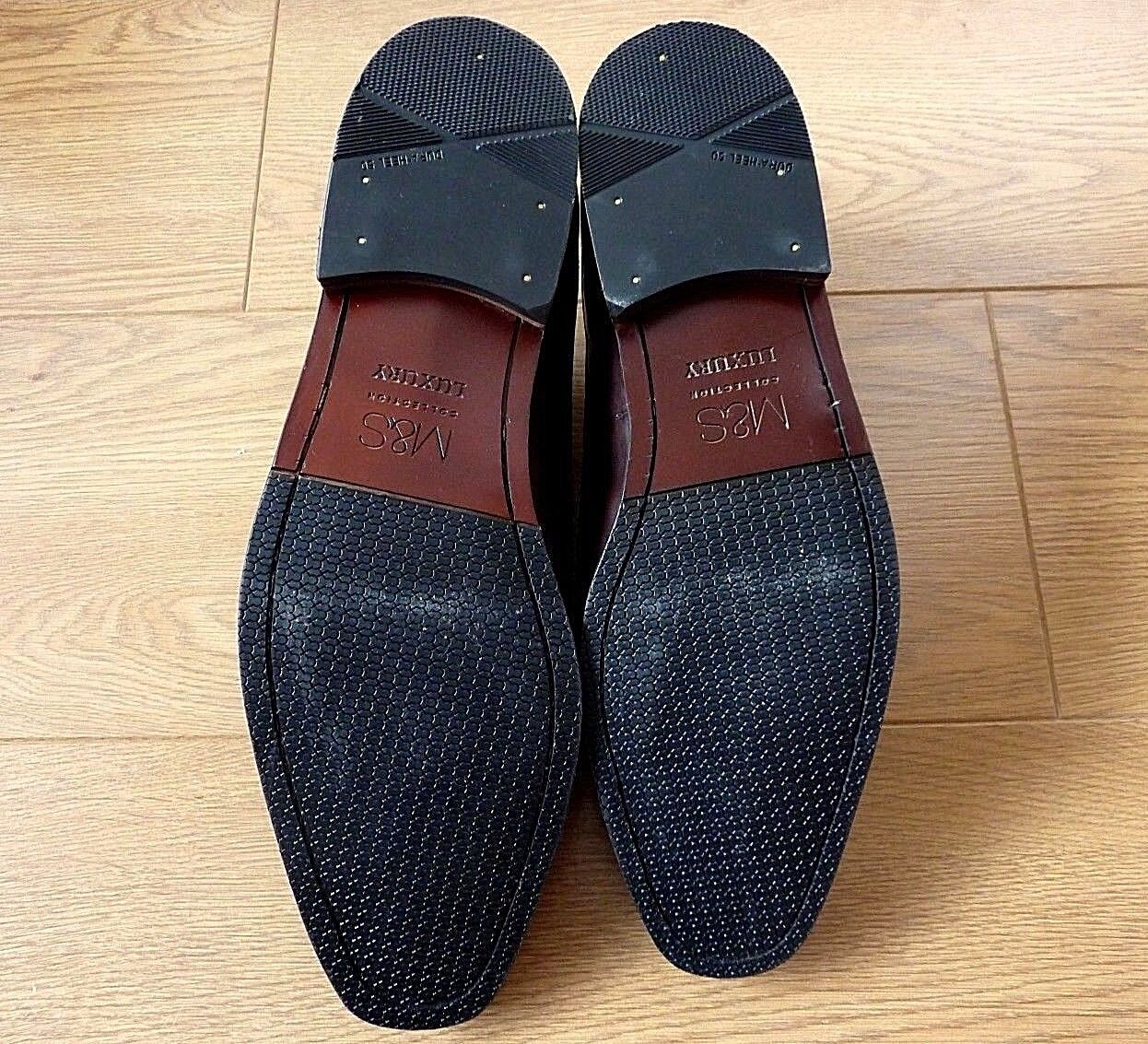 M&S Collection Luxury Derby Schuhes Braun Leder ODD SIZE Schuhes Derby Left UK 12, Right UK 10 f7636f