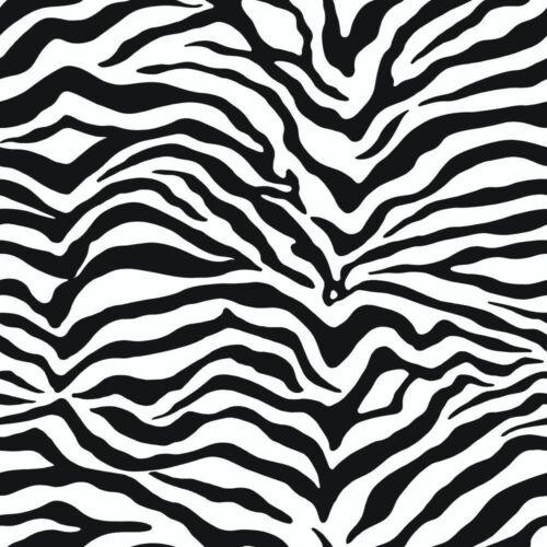 Noir /& Blanc Zèbre Rayures Papier Peint KD1798 Lavable surestrip encollé