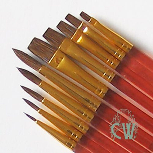 Royal 10 Sable Brushes Set. For Artists Watercolour Painting SVP6