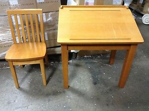 Pottery barn kids activity play table art schoolhouse desk carolina chair honey ebay - Pottery barn schoolhouse chairs ...