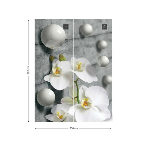Wall Mural Photo Wallpaper Picture EASY-INSTALL Fleece Abstraction White Orchids