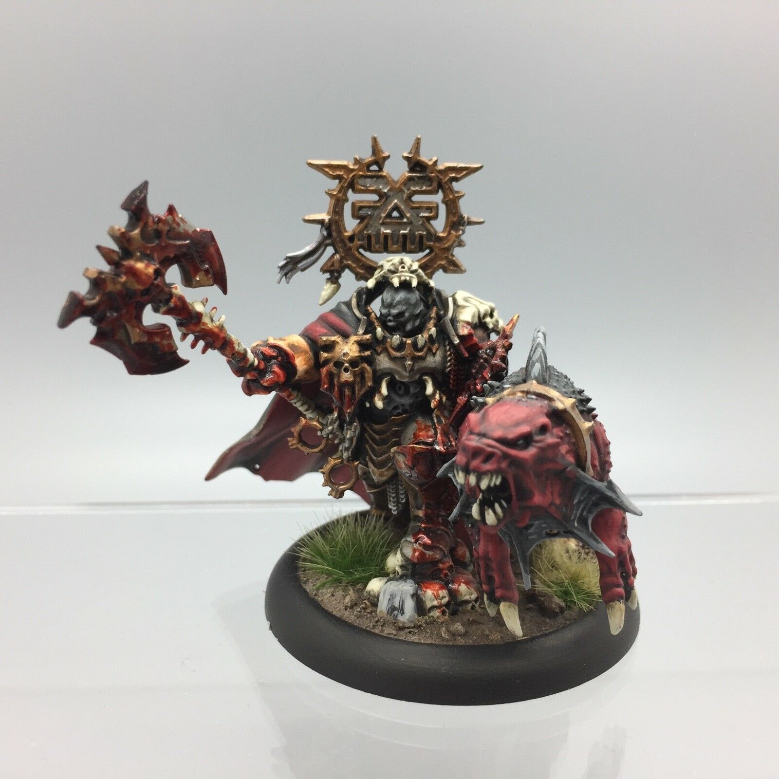 WARHAMMER AGE OF SIGMAR CHAOS KHORNE BLOODBOUND KORGHOS KHUL PAINTED & BASED