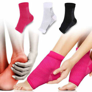 1pair-Foot-Compression-Sleeve-Anti-Plantar-Support-Ankle-Angel-Socks-Sport-CA