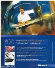 PUBLICITE ADVERTISING 095  2003  MICROSOFT   informatique LA SOURIS  & CLAVIER