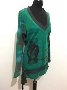 DESIGUAL-Sueter-Camiseta-De-Mujer-Algodon-Algodon-M-Sz-44