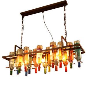 Extremement Hanging Wine Bottles Chandelier Pendant Lamp Ceiling Light Fixture MC-42