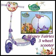 Disney Fairies 3 Wheel Scooter Anti Slip Foot Plate Handlebar Height 59-66cm NEW