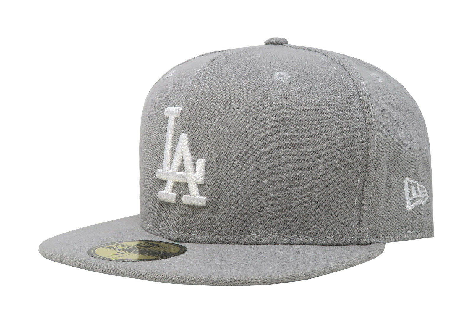 New Era 59Fifty Dodgers Hat MLB Los Angeles Dodgers 59Fifty Mens Light Gray 5950 Fitted Cap 725448