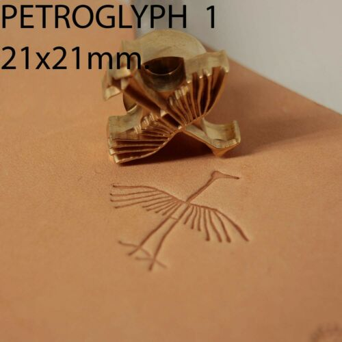 Leather crafting stamp tool crafts brass saddle making stamps #Petroglyph1