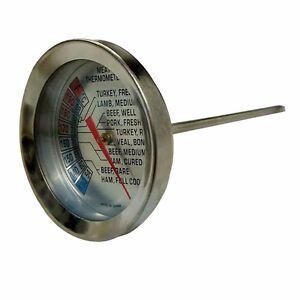 2x-Jumbuck-BBQ-THERMOMETER-Celsius-amp-Fahrenheit-Temperature-Scale-Read-Gauge