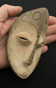 Mask Lega Pasport Masquette African DRC 5 5/16in Art African Customary Law 16664