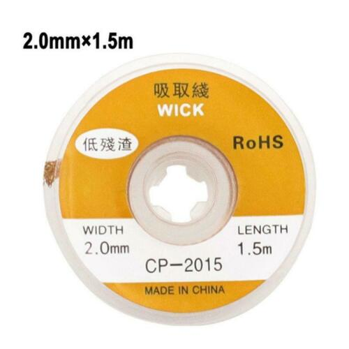 1.5M Desoldering Braid Welding Solder Remover Wick Wire Low Residue Tin Strip