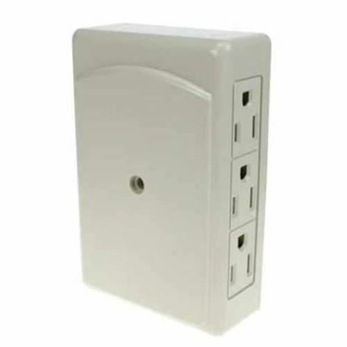 Elink EL-867 6 Outlets Space Saving Wall Tap White
