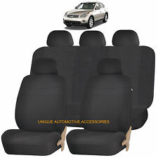 BLACK ELEGANCE AIRBAG COMPATIBLE SEAT COVER for INFINITI FX35 FX45
