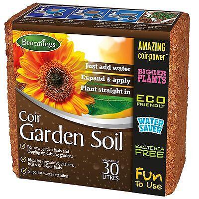 Garden Patio Brunnings Coir Garden Soil Block Amazing Bigger Plants Eco Friendly Makes 30l Fertilisers Rfrcoshop Com