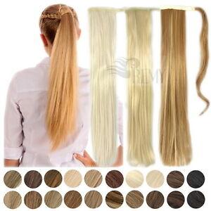 Haarteil-Pferdeschwanz-Zopf-Clip-In-Extensions-Haarverlaengerung-Haarverdichtung