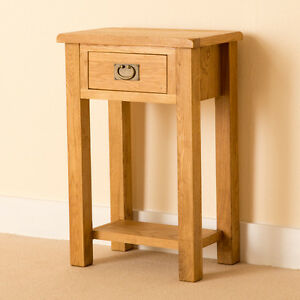 Details About Lanner Oak Telephone Table Solid Frame Rustic Wood Hall Console