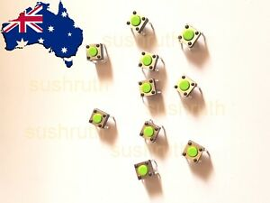 10pcs-Green-SPST-6x6x4-3-mm-Momentary-Push-Button-Tactile-Switches