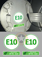 SET DE 2 X CARBURANT SP95 SANS PLOMB E10 AUTOCOLLANT STICKER TAILLE : 5cm