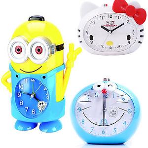 Cute Cartoon Voice Alarm Clock Minions Kitty Cat