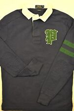 NWT $125 Polo Ralph Lauren Custom Fit SIZE M Gothic P Jersey Rugby Shirt