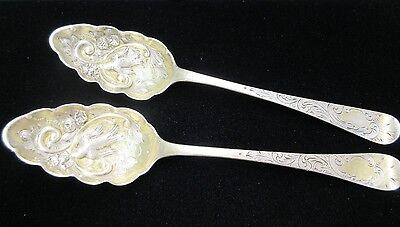 Antique 1805 W Eley & W Fearn London, England Sterling Silver Berry Spoons
