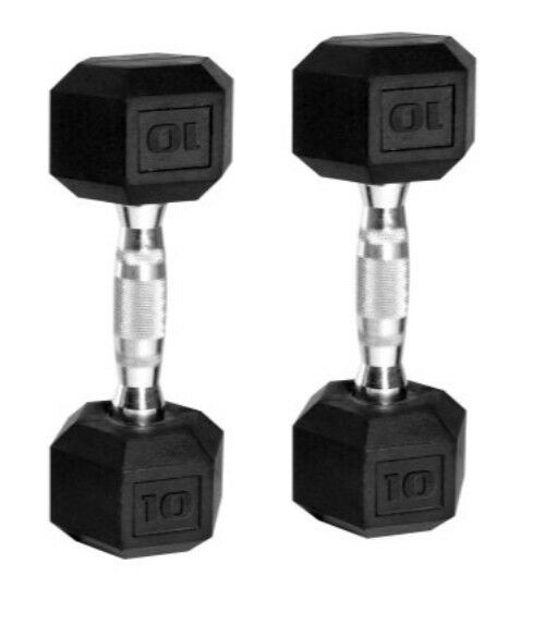 10 lb cap hex dumbells barbell solid single pound fitness weight fitness iron