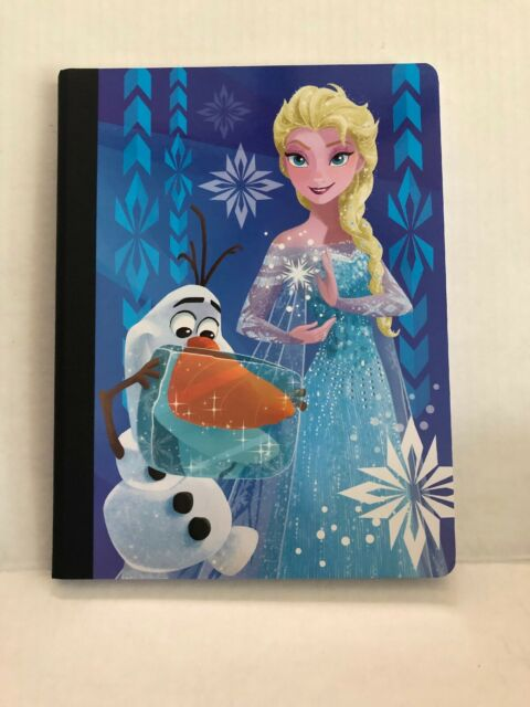 frozen elsa and olaf composition book 100 wide ruled