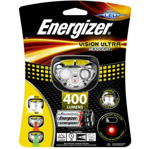 Energizer Vision Ultra Focus Tête Torche 3 AAA Energizer Piles 400 lm Bright