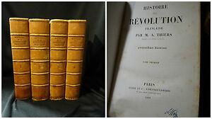 M-A-Thiers-Histoire-de-la-revolution-francaise-Paris-Furne-1858-4-vol