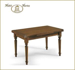 Tavolo allungabile rettangolare gambe tornite in legno arte povera 140x80 160x85 ebay - Tavolo allungabile arte povera ...