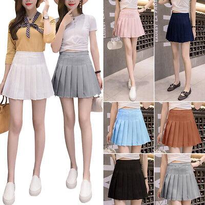 US Fashion Women Floral High Waist Flared Skirt Pleated A Line Casual Mini Dress