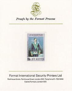 St Kitts 3040 - 1985 MASONIC LODGE 15c on Format International PROOF CARD