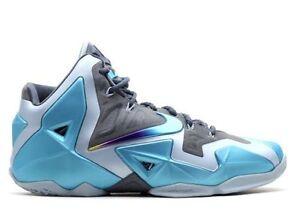 quality design eaea5 fea5e Image is loading Nike-Lebron-11-XI-Gamma-Blue-Armory-Slate-