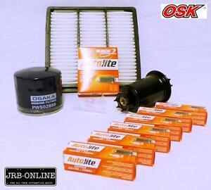 MITSUBISHI-TRITON-MH-MJ-4WD-V6-3-0L-6G72-OIL-AIR-FUEL-FILTER-SPARK-PLUGS-90-96