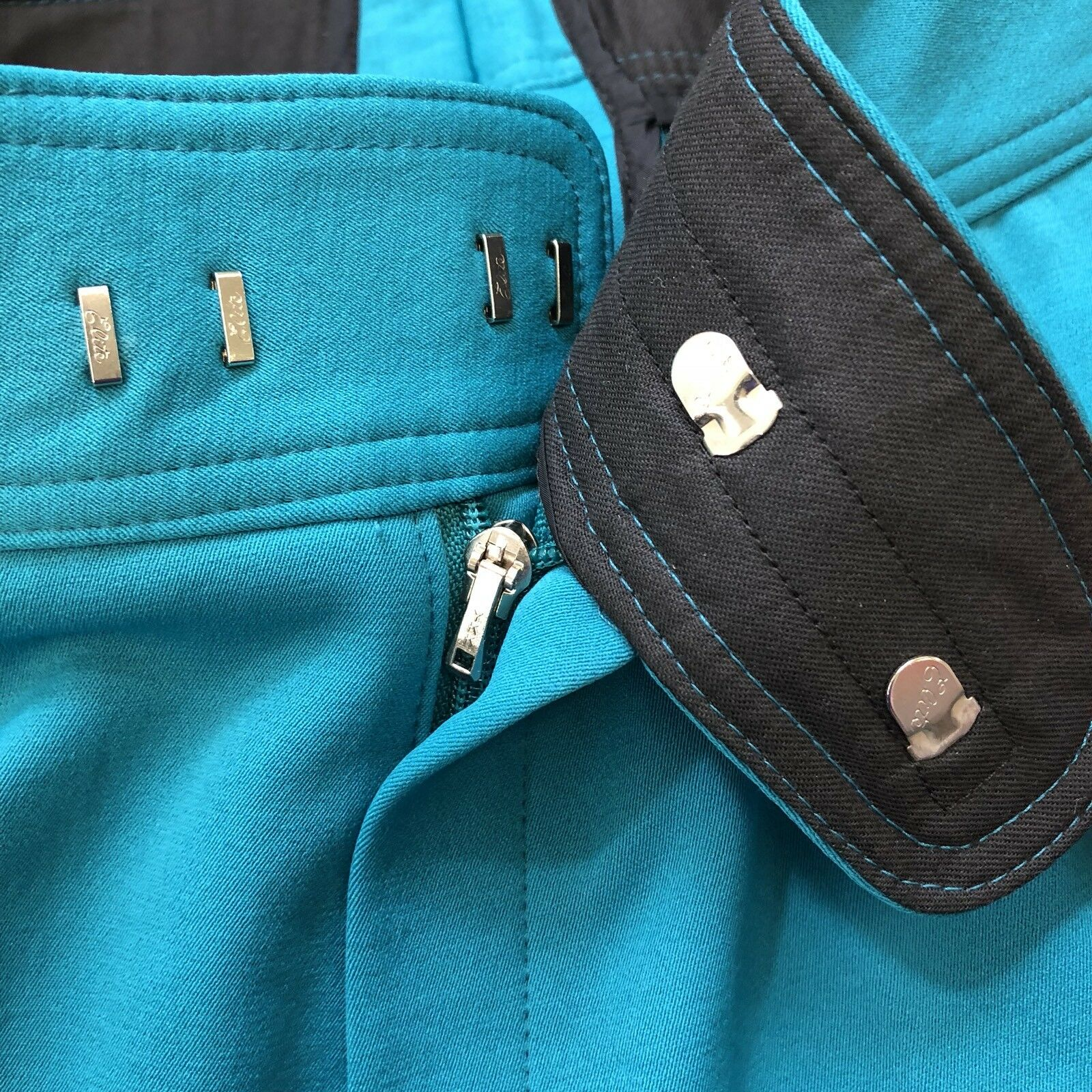 Schoeller 10 Vintage Damenschuhe 10 Schoeller Regular Ski Pants Teal Stirrup Foot Made in USA 6ab1d8