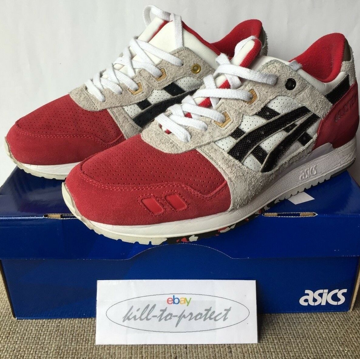 AFEW x ASICS GEL LYTE III   KOI  Sz US11 UK10 H51NK0190 25th Anniversary 2015