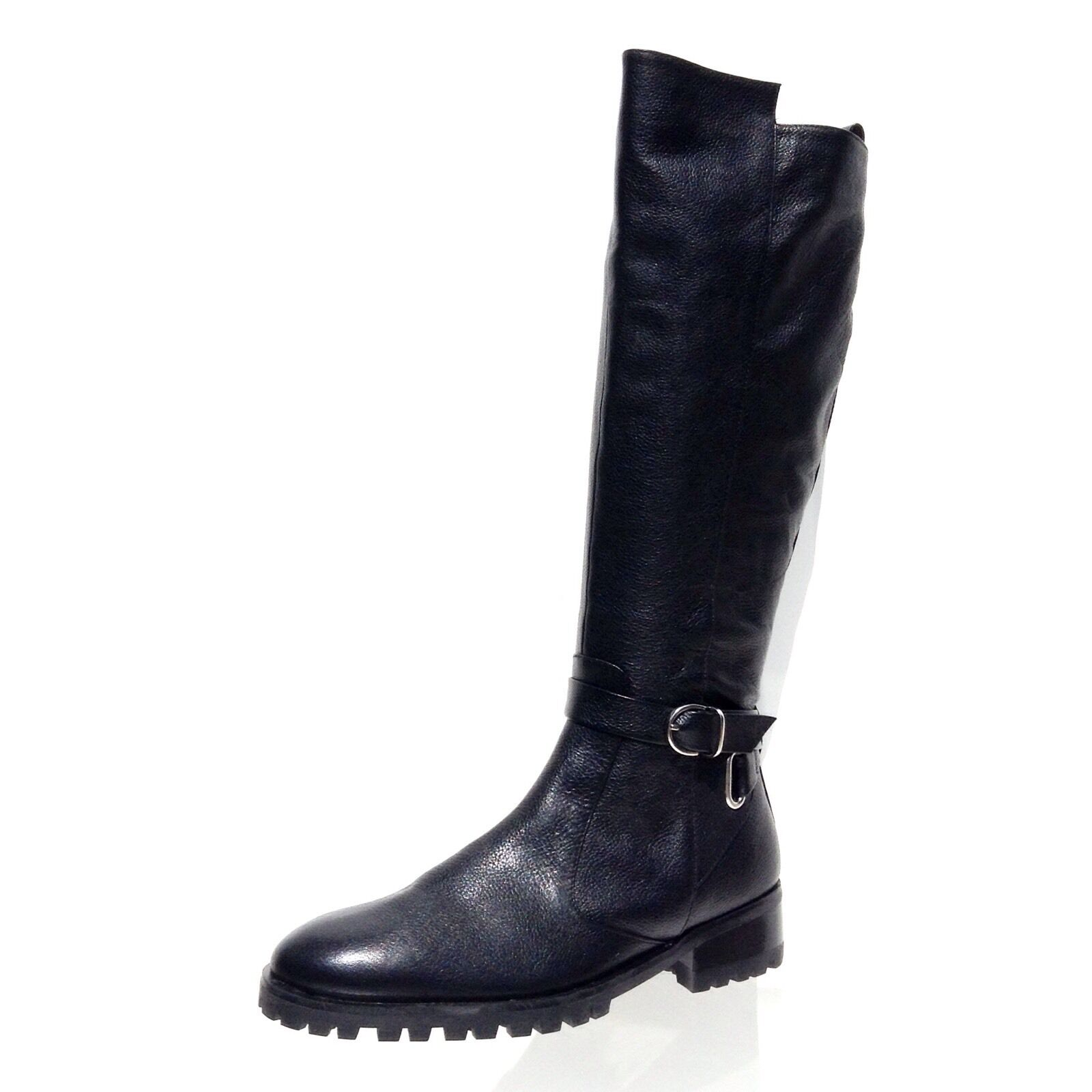 Women's Tesori Valencia Black Color Tall Riding Leather Boots Size 5.5 M NEW!