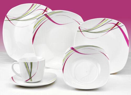 Porcelaine Combi Service 6 personnes service vaisselle décor Design Choix 62tlg