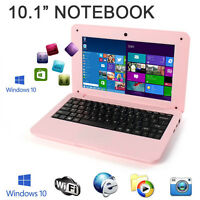 10 Windows 10 Win Pink Mini Pc Notebook Netbook Laptop Wifi Computer Kids