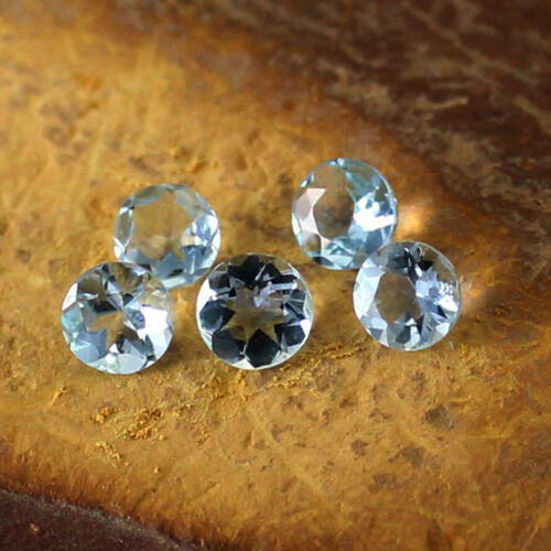 Sky Blue Aquamarine Round Cut 5 Pieces Wholesale Lot Details about  /3x3 MM Natural Faceted AAA