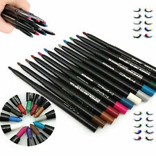 Professional Eyeshadow Lip Eyeliner Pencil Pen Cosmetic Makeup Set 12 Colors
