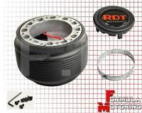 Black Aftermarket 6-bolt Steering Wheel Hub Adaptor Kit Mitsubishi Lancer 88-04