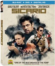 Sicario (Blu-ray/DVD, 2016, 2-Disc Set)