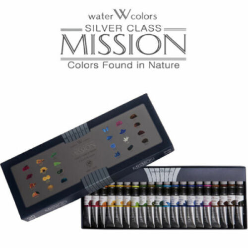 Mijello Mission Silver Class MWC7524 Watercolor Paints 7.5ml tube x 24Colors