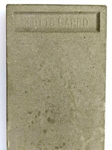 Scott-039-s-Carbo-Hone-Sharpening-Stone-Razor-Knife-Blade-Sharpener-Gray-White-Vtg