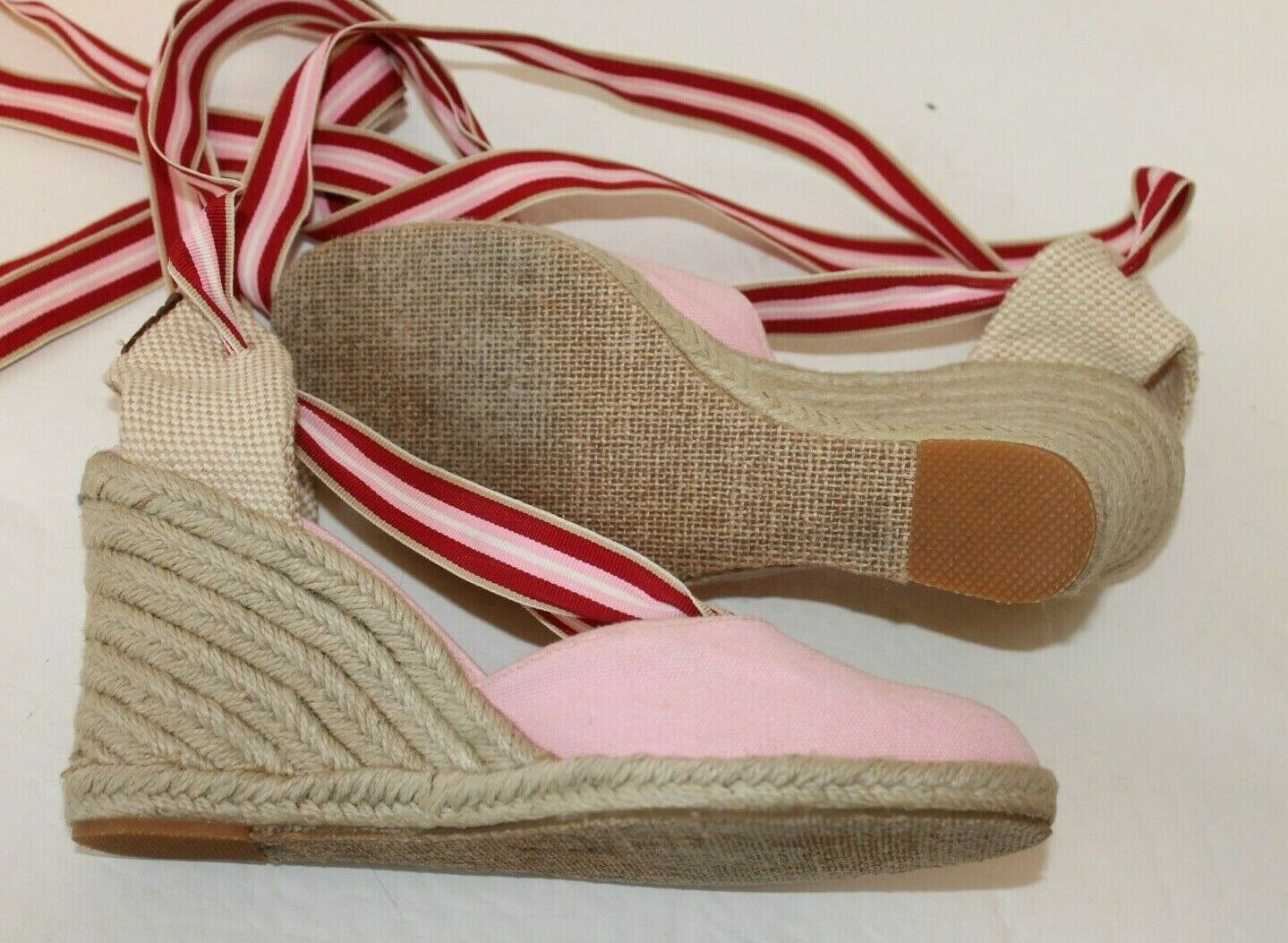 Tommy Hilfiger Womens 7M Pink Canvas Espadrille S… - image 5