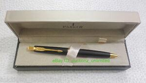 Parker Aster Matte Black CT Ball Pen ballpen Worldwide Shipping Free Blue Ink