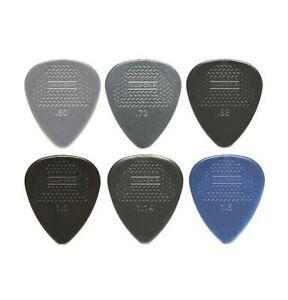 5-Guitar-Picks-DUNLOP-MAX-GRIP-Nylon-Made-In-USA-choose-your-favorite-gauge