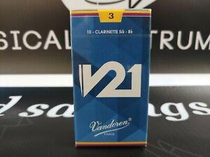 Box of 10 Vandoren V21 Bb Clarinet Reeds #3